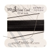 Dazzle-it 100% Silk Bead Cord with needle 2M #2(0.45mm) Black